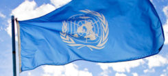 UN, Vereinte Nationen, United Nations, Fahne, Flagge