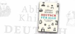Buch, Cover, Deutsch für Alle, Abbas Khider