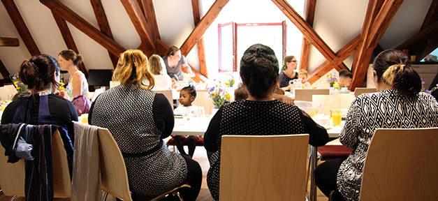 Frühstück, Frauen, Hoffnungshaus, Integration, Flüchtlinge