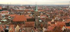 Nürnberg, Stadt, Dächer, Panorama, Heimat