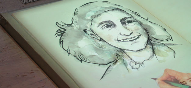 Anne Frank, Tagebuch, Das Lebendige Buch, Zeichnung, Foto