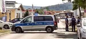 Polizei, Absperrung, Mord, Straftat, Straße, Stadt