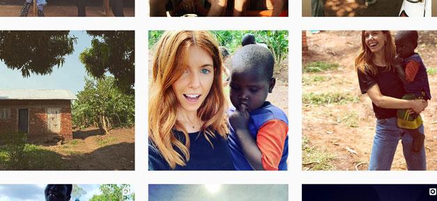 Instagram, Kind, Frau, Weiß, Schwarz, Hilfe, Uganda