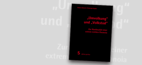Buch, Cover, Umvolkung, Volkstod, Rechtsetxtremismus, AfD