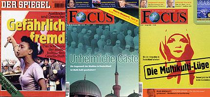 Der Spiegel und Focus Titelseiten
