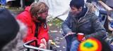 Das leben der Flüchtlinge am Brandenburger Tor