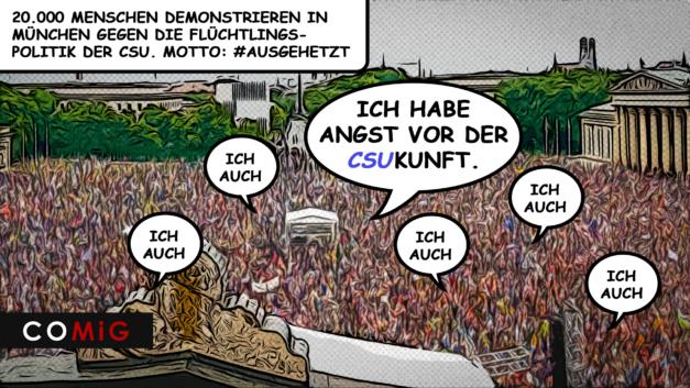 Demo, Demonstration, COMiG, Flüchtlingspolitik, CSU