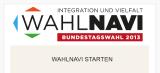 WahlNavi geht an den Start - Wahlentscheidung bei Integrationsfragen