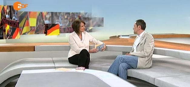 Szene aus dem ZDF Mittagsmagazin vom 2.4.14 mit Akif Pirinçci