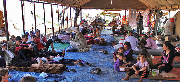 Ein Flüchtlingslager im Nord-Irak © DFID - UK Department for International Development @ flickr.com (CC 2.0), bearb. MiG