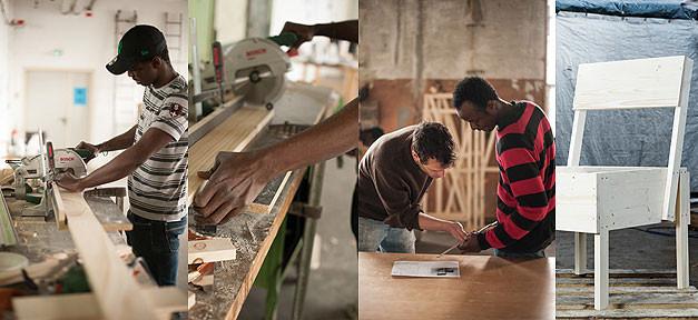 cucula, möbel, designer, fluechtlinge, projekt