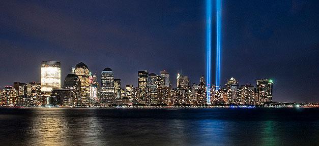 new york, new york city, skyline, 11 september