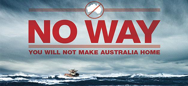 Australien, Flüchtlinge, Plakat, Meer, Heimat