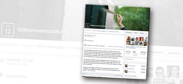 Postkartenaktion für Flüchtlinge auf Facebook