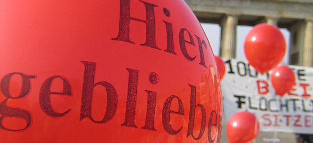 Asyl, Abschiebung, Luftballon, Demo, Demonstration, Abschiebestopp