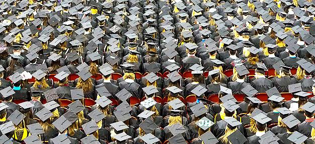 Studenten, Abschluss, Feier, Akademiker, Hochschule, Absolventen
