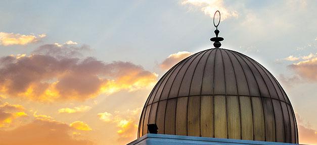 Kuppel, Moschee, Moscheekuppel, sonnenuntergang, ramadan, Islam, Muslime