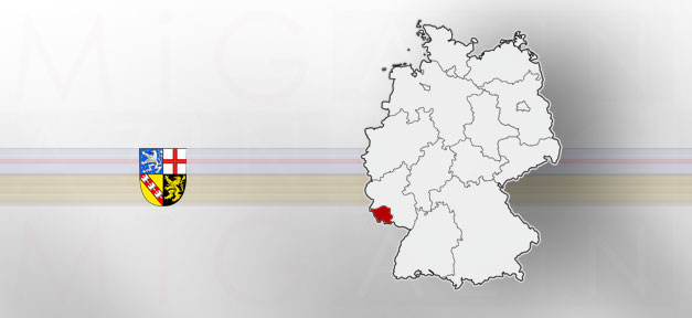Saarland, Saar, Land, Bundesland, Karte, Landkarte, Deutschland