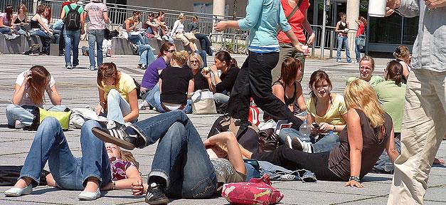 Studenten, Campus, Hochschule, Bildung, Universität