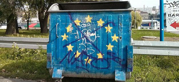 europa, europäische union, eu, müllcontainer, müll