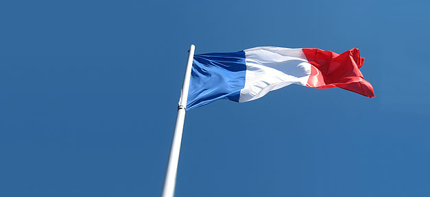 Frankreich, France, Flagge, Fahne, Nation