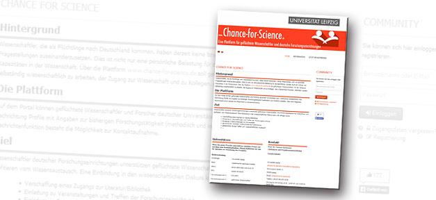 Chance for Science, wissenschaft, wissenschaftler, geflüchtete, flüchtlinge