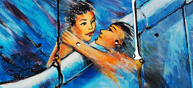 Berliner Mauer, Gemälde, Graffiti, Trennung