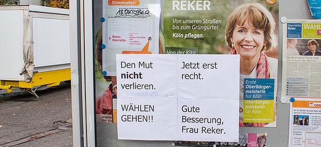 Henriette Reker, Köln, Oberbürgermeisterin, Attentat, Messer, Fremdenfeindlichkeit