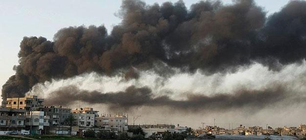 Bombe, Rauch, Krieg, Feuer, Palästina