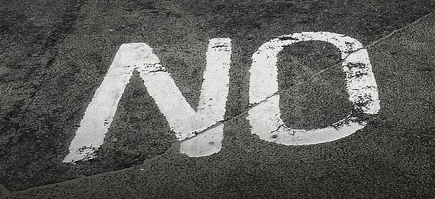 Nein, none, no, hayir, boden, asphalt
