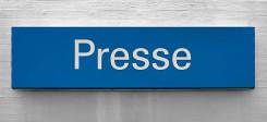 Presse, Pressecodex, Akkreditierung, Schild