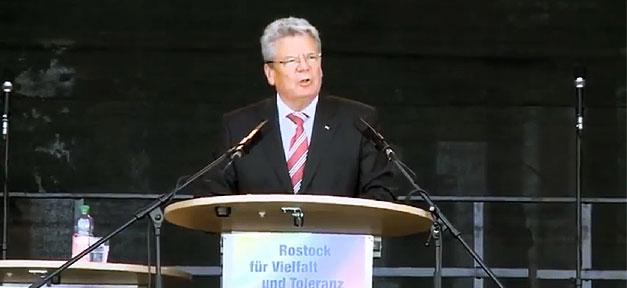 Joachim Gauck, Bundespräsident, Präsident, rostock, lichtenhagen