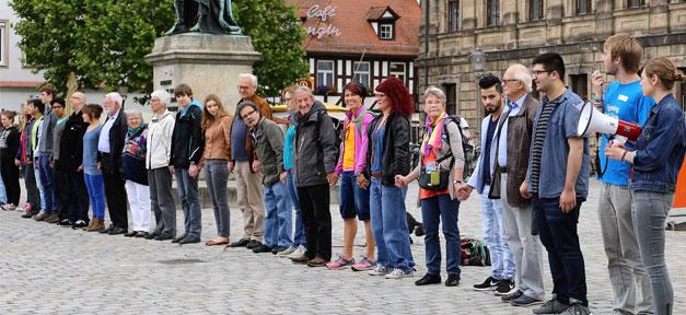 Menschenkette, Rassismus, Menschen, Demo, Demonstration