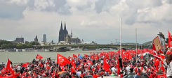 Demonstration, Türken, Türkei, Köln, Demo, Demokratie, Putsch
