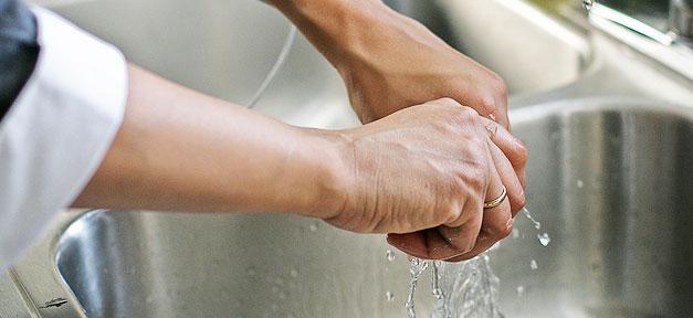 Hand, Waschen, Spüle, Arzt, Putzfrau