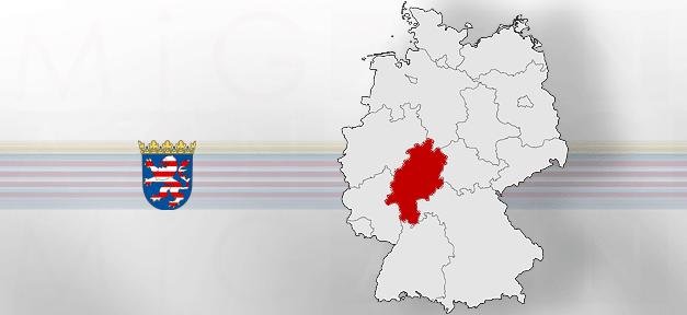 Hessen, Land, Deutschland, Karte, Grenze