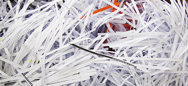 Aktenvernichtung, Aktenvernichter, Papier, Schredder