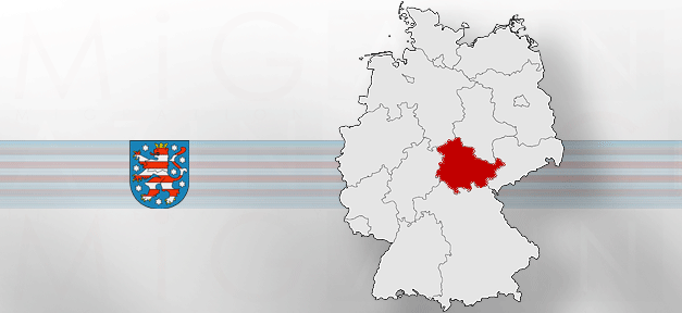 Thüringen, Landkarte, Land, Wappen, Landeswappen