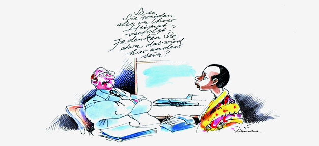 Karikatur, Flüchtling, Karikaturenpreis, Flüchtende