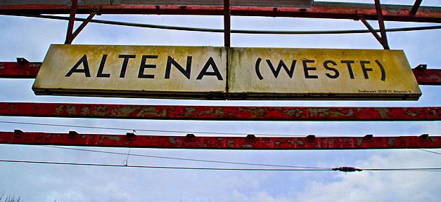 Altena, Bahnhof, Kleinstadt, Alt, Stadt