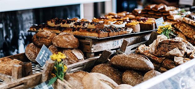 Bäckerei, Brot, Mehl, Backen, Konditorei, Theke