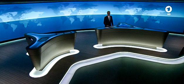 ARD, Tagesschau, Nachrichten, Studio, Fernsehen, TV
