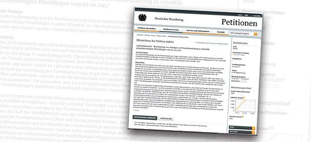 Petition, Online, Internet, Bundestag