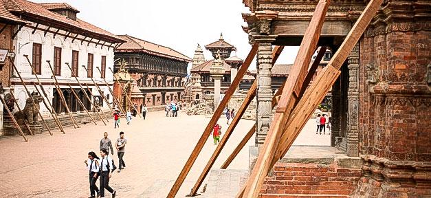 Nepal, Katmandu, Erdbeben, Gebäude, Einsturz