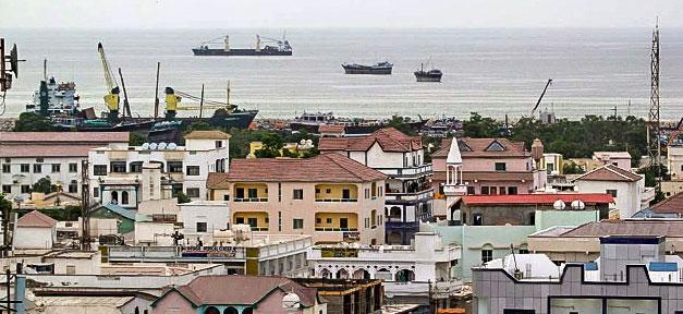 Somalia, Stadt, Bosaso, Meer, Küste, Schiffe, Afrika