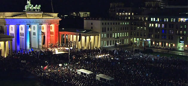 demonstration, brandenburger tor, charlie hebdo, terror, terrorismus