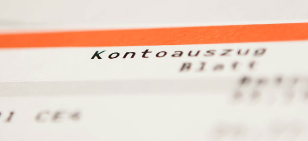 Kontoauszug, Bank, Girokonto, Jedermannkonto, Dispokredit