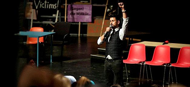 NSU, NSU-Tribunal, Ibrahim Arslan, Mölln, Bühne