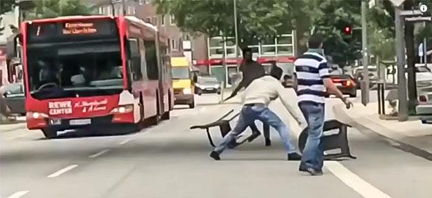 Messerattacke, Hamburg, Barmbeck, Straße, Kampf