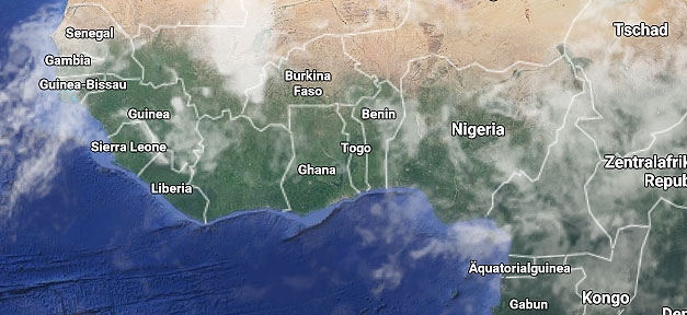 Nigeria, Afrika, Landkarte, Weltkarte